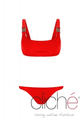 INDIANA RED buckle up bikini set