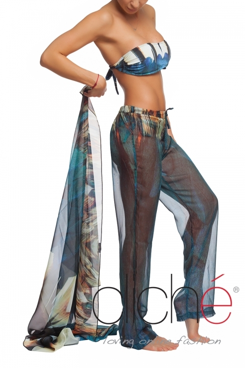 "Beach pants ""Feathers"""