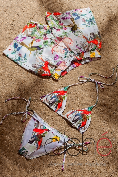 BOTANICAL side tie bikini set