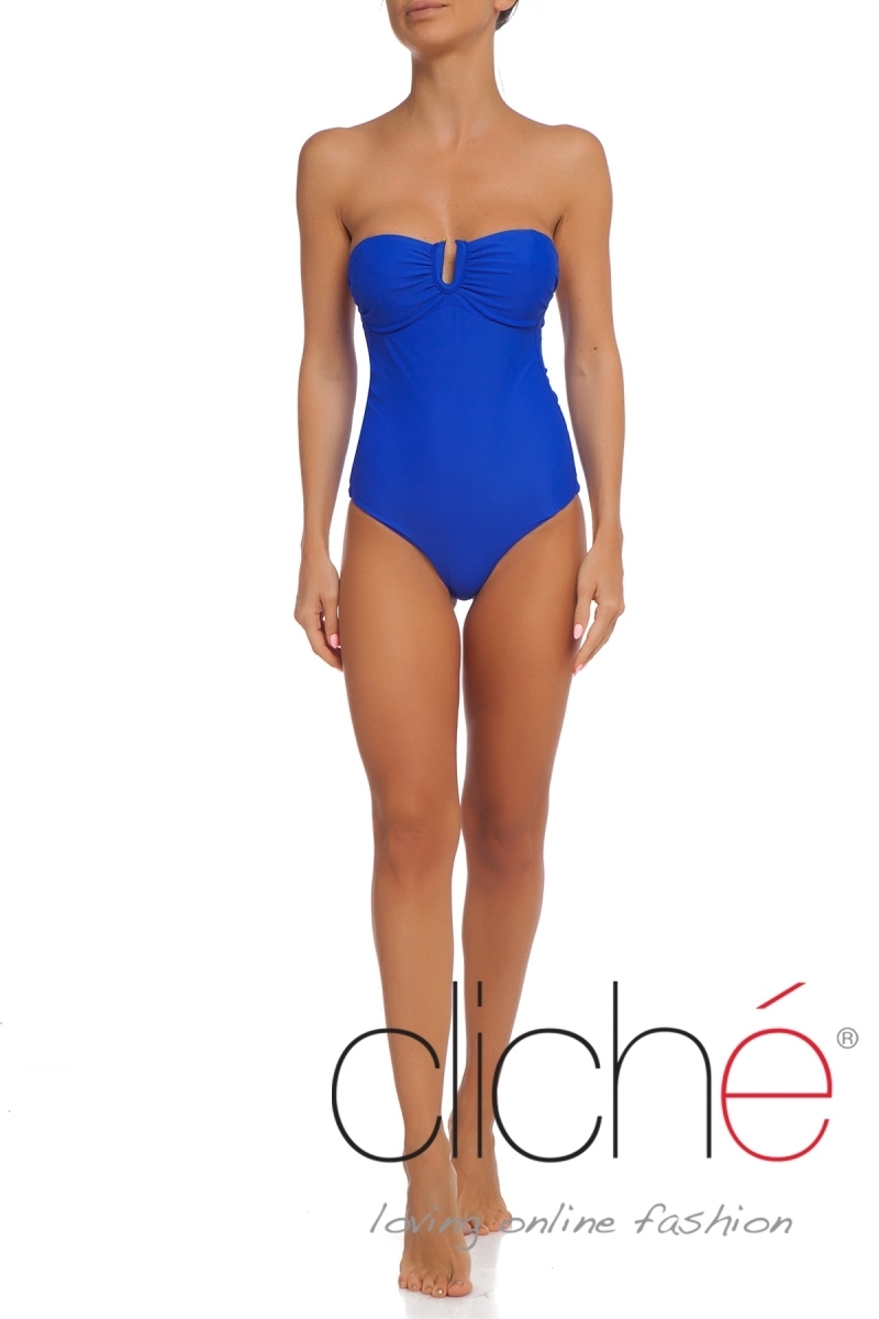 TROPICAL GOLD U front one piece swimwuit