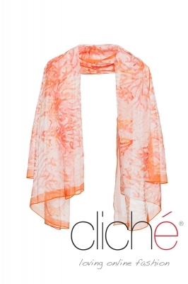 Scarf with coral print
