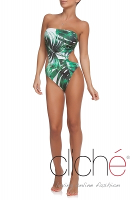 GREEN SHADOWS cutout one piece