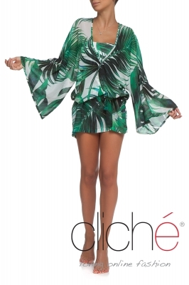 GREEN SHADOWS Beach kaftan