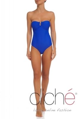 BLUE U front one piece swimsuit